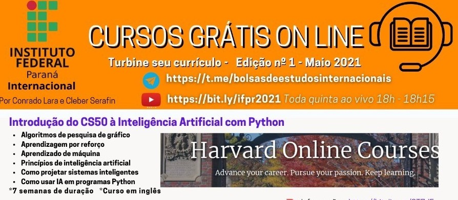 Projeto do IFPR oferece cursos on line  gratuitos